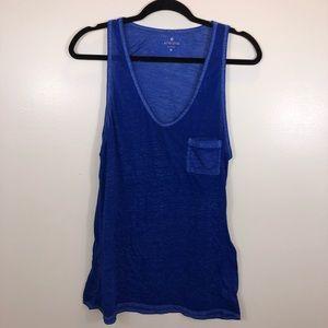 Athleta Blue Pocket Muscle Tank
